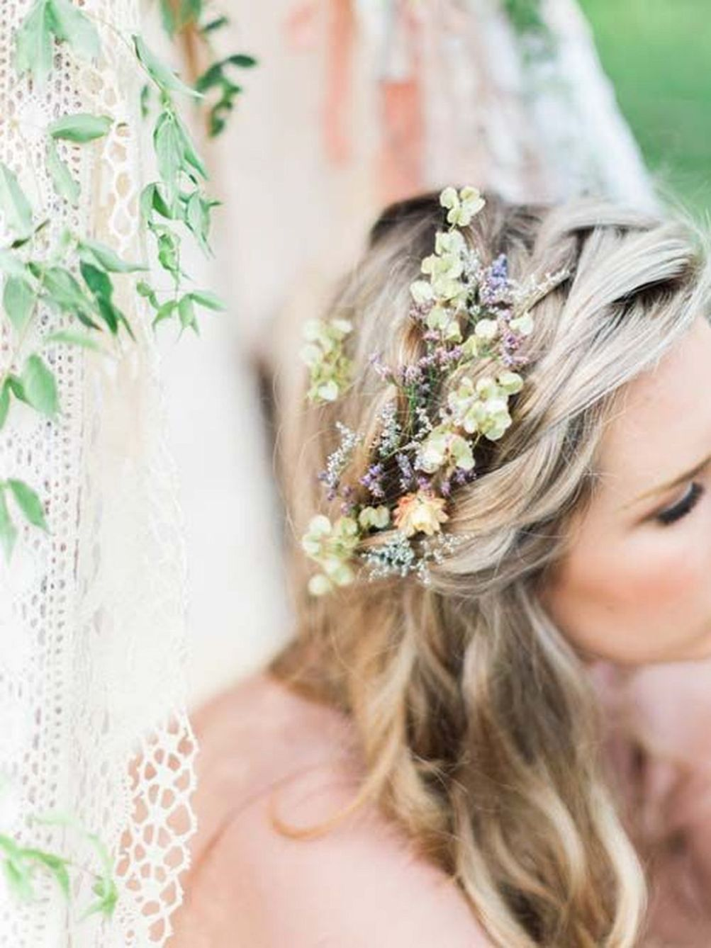70 beautiful hair style for bride with flower flower crowns 70 beautiful hair style for bride with flower izmirmasajfo Gallery