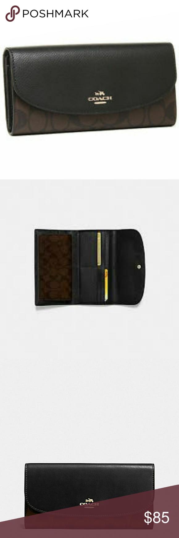 38bb896ca43da New Coach wallet! Checkbook wallet in signature Coach. Coach item number  COACH F57319.