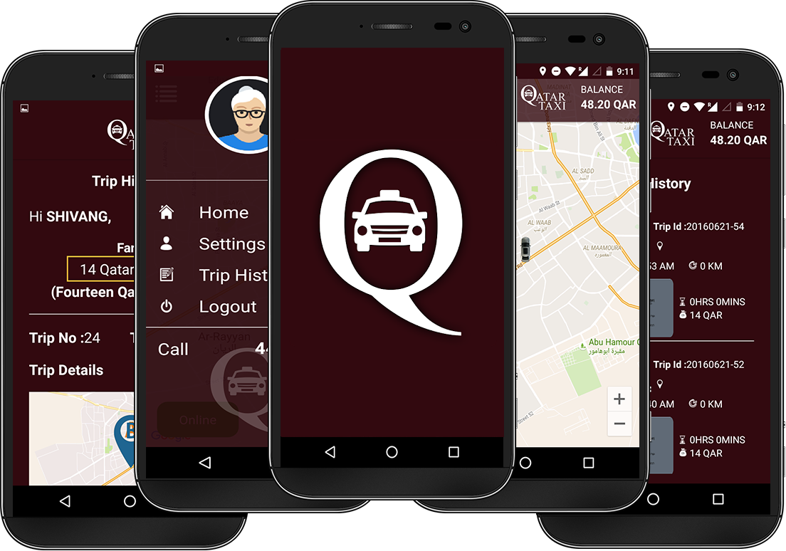 Qatar Taxi - Real Time Taxi Booking App for Travel & Tourism