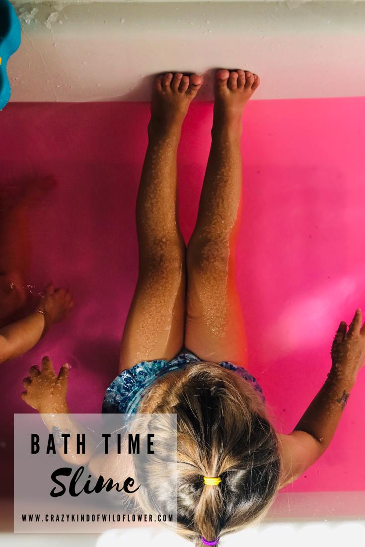 Girl bathing in goop bukkake