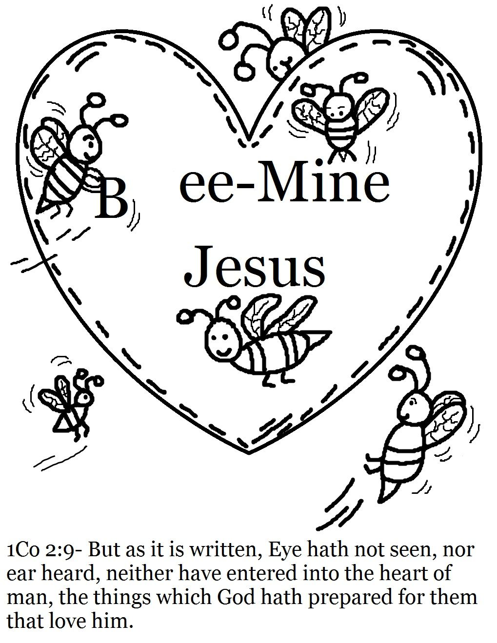 Popular Kids Valentine Coloring Pages 95 Valentine Bees Coloring Page
