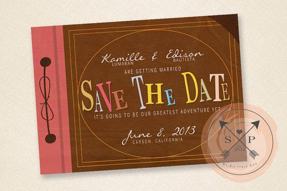 Five wonderfully bookish save the date ideas found on etsy