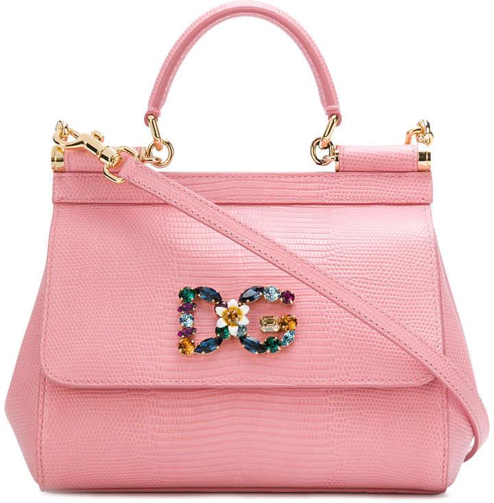 Dolce   Gabbana logo embellished Sicily shoulder bag  bdaaa5336154b