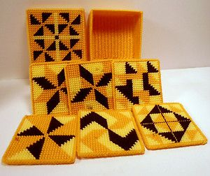 Geometric Coasters...Awesome in Autumn/Halloween colors!