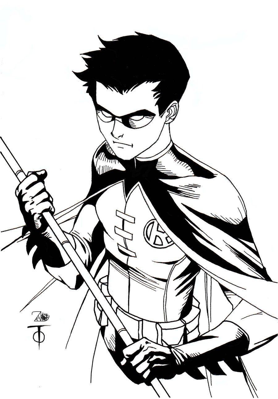 Robin Sketch By Marcus To By Newerastudios On Deviantart Robin Superhero Batman Coloring Pages Batman Drawing
