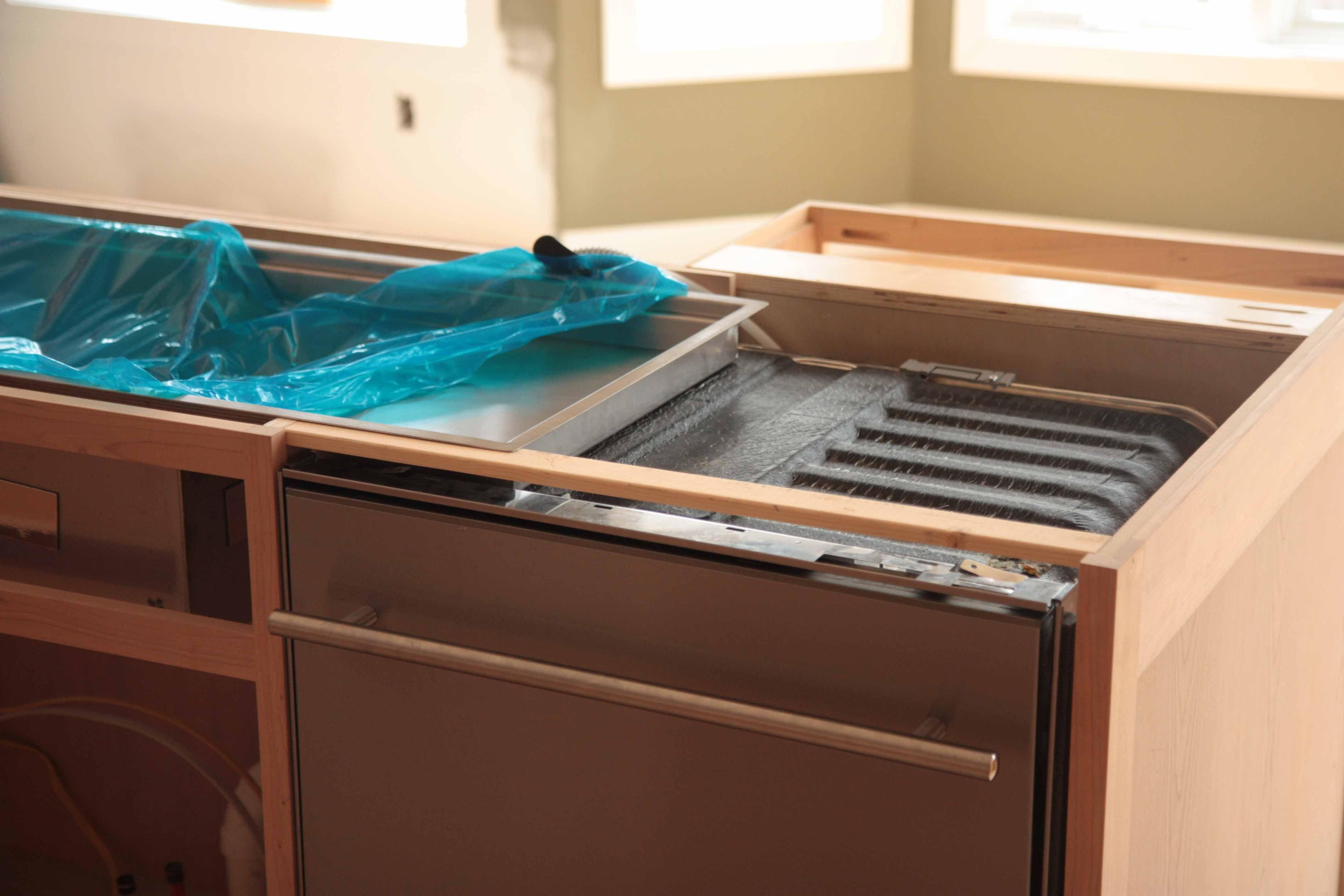 Kohler 44 Stages Sink Over A Dishwasher Kitchen Cabinet Remodel Sink Kitchen Projects