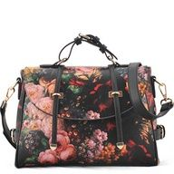 Western Style Oil Painting Strap Bag Handbag for Women : BAGSTORM, Backpack for students, fashion bags for women, suitcase for men, $95