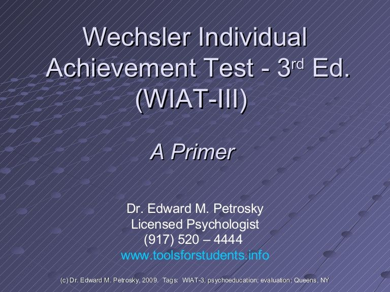 WiatIii A Primer  This Website Has A Powerpoint Presentation