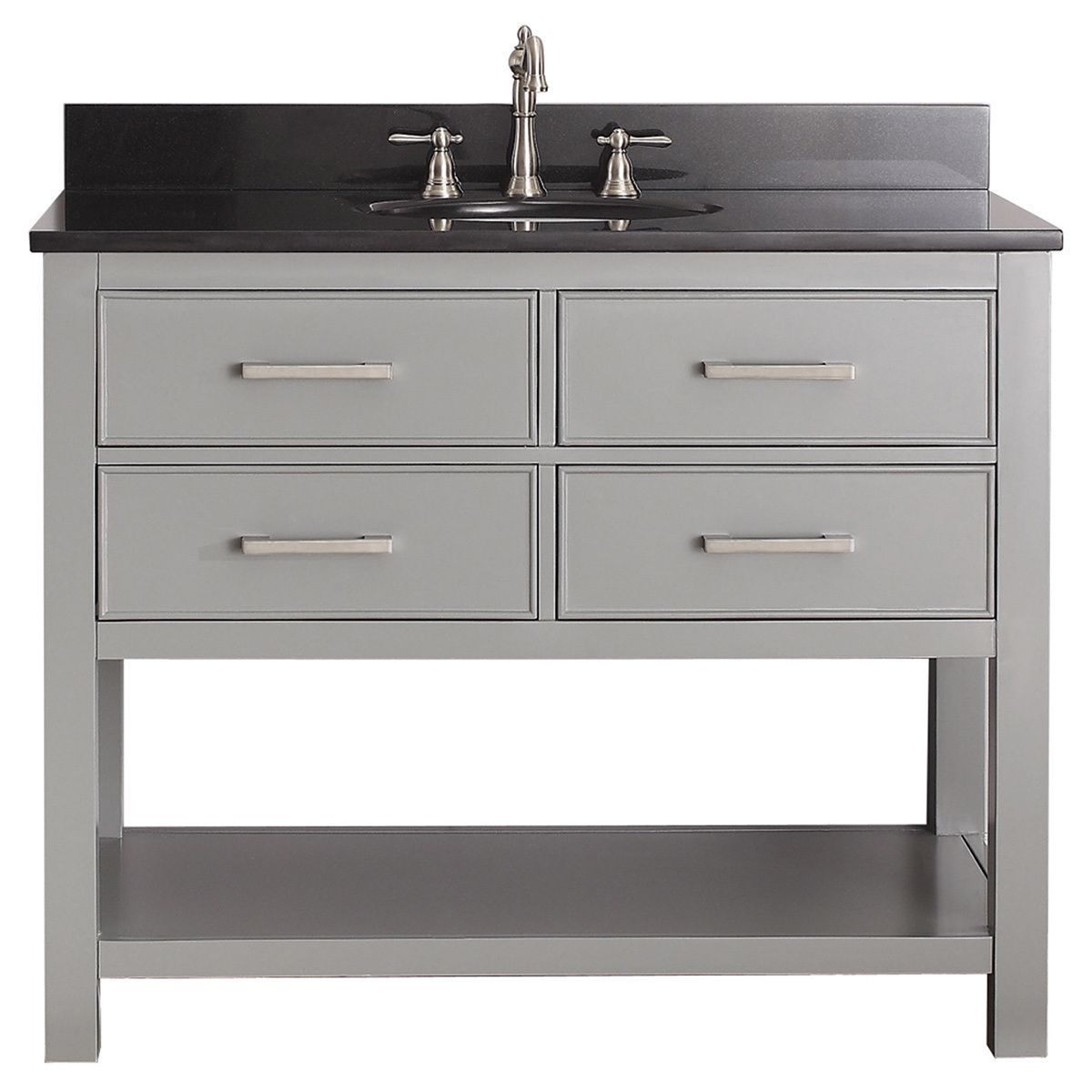 Avanity Brooks 43-inch Chilled Grey Vanity Combo with Top ...
