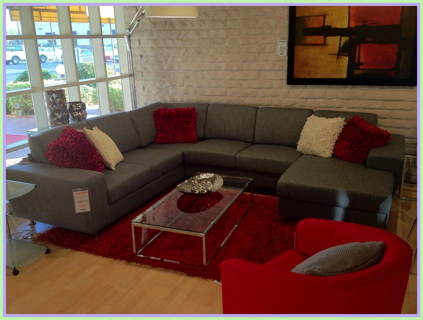 78 Reference Of Grey Living Room Red Sofa In 2020 Living