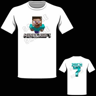 MINECRAFT T SHIRT Personalized 1000 Minecraft Birthday Invitations Party Favors Gifts