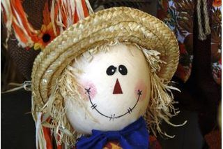 How To Make A Scarecrow Head 7 Steps Ehow Make A Scarecrow