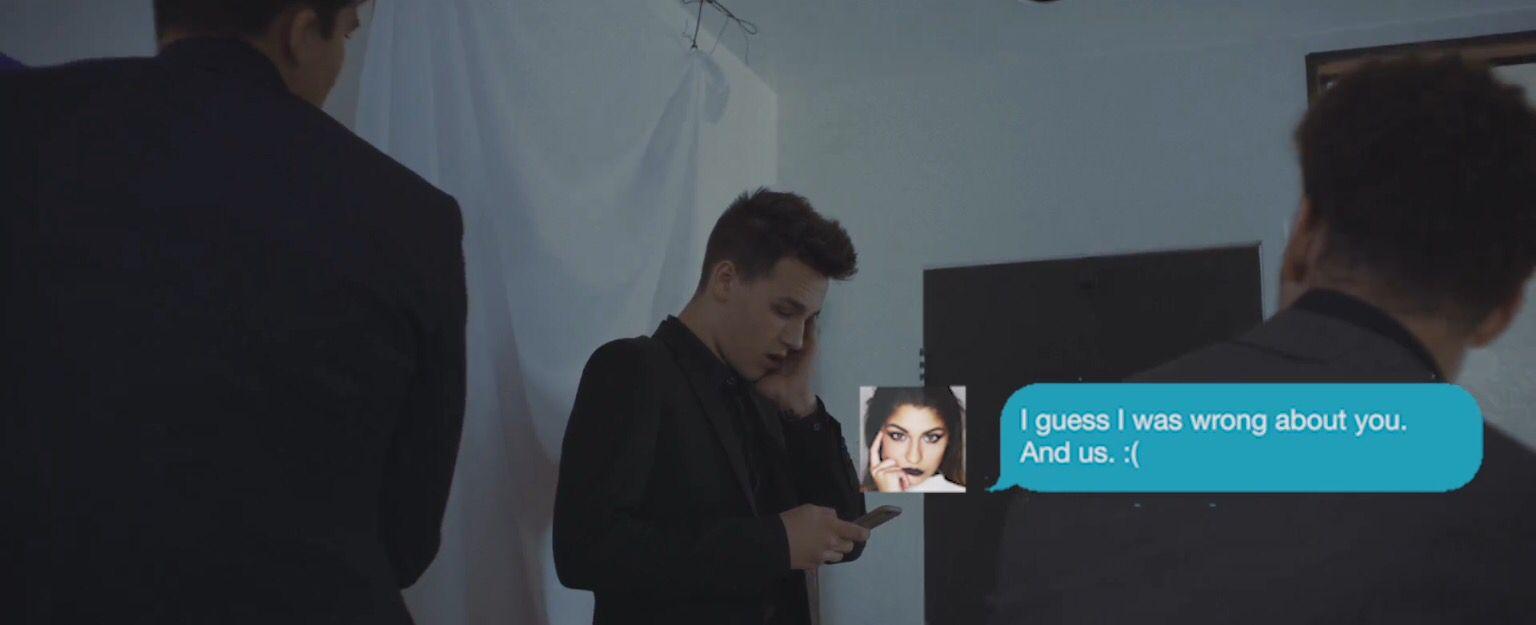 Andrea in Jacob whitesides lovesick video