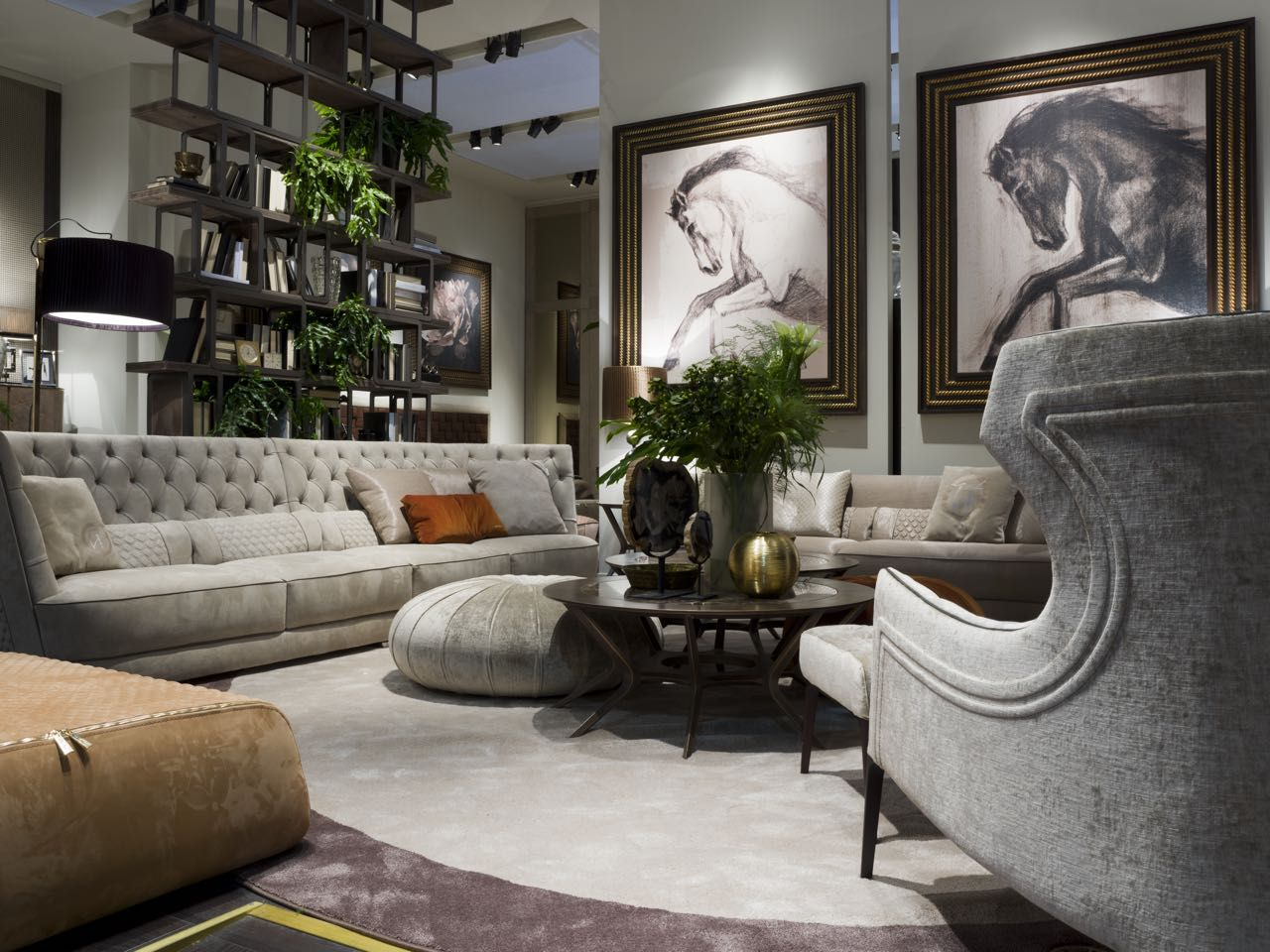 Living room by vittoria frigerio italy luxury for Mobili per salone