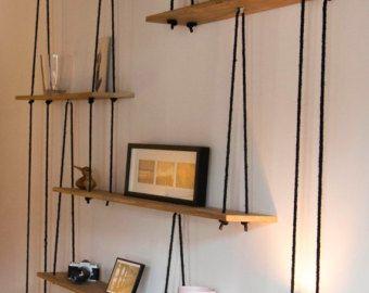 Suspended Shelves suspended shelves-étagères suspendueslyonbrocante on etsy