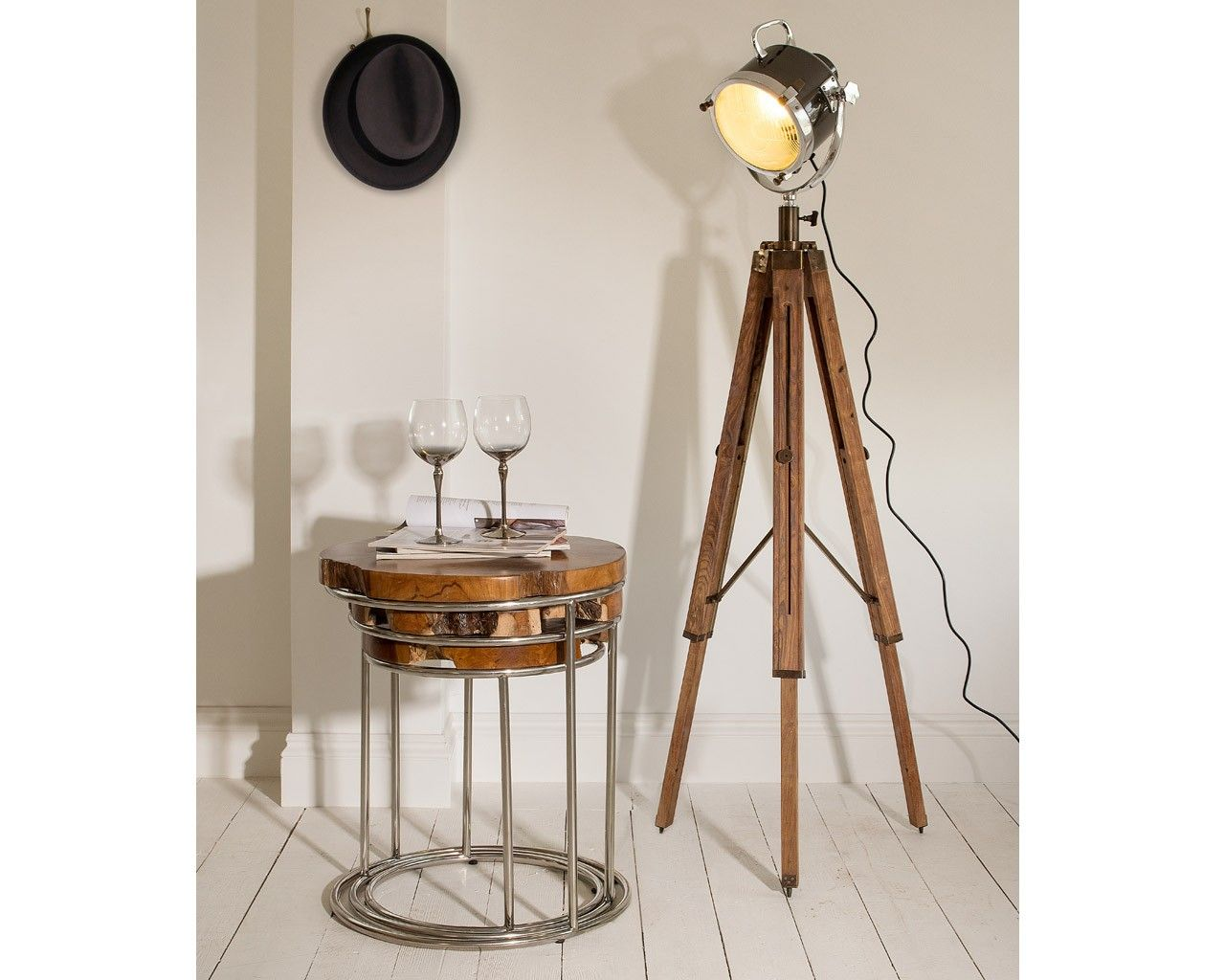 Spotlight Tripod Lamp Floor standing lamps, Nautical