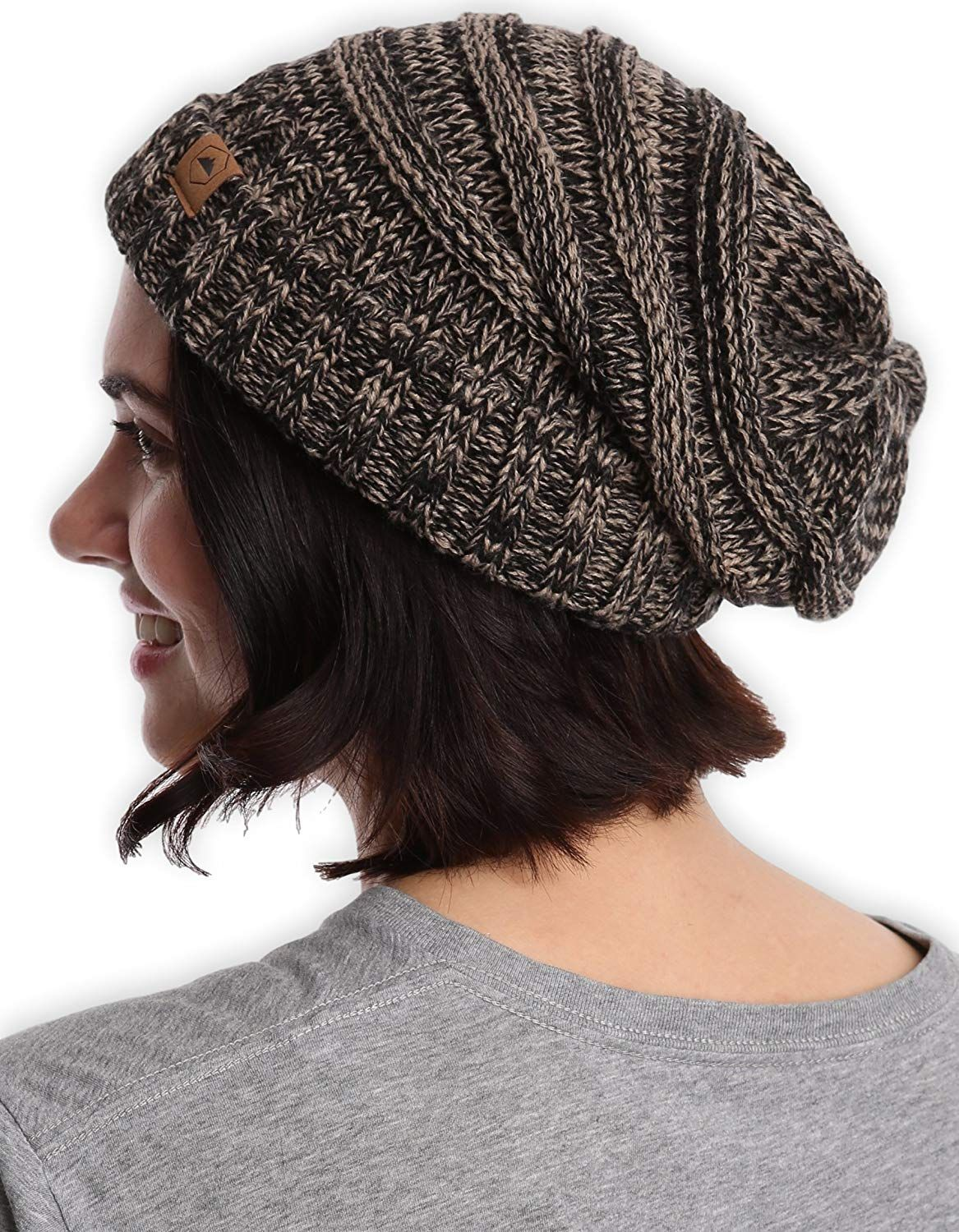 3b91218d8 Details about Slouchy Cable Knit Cuff Beanie Men Women Fashionable ...