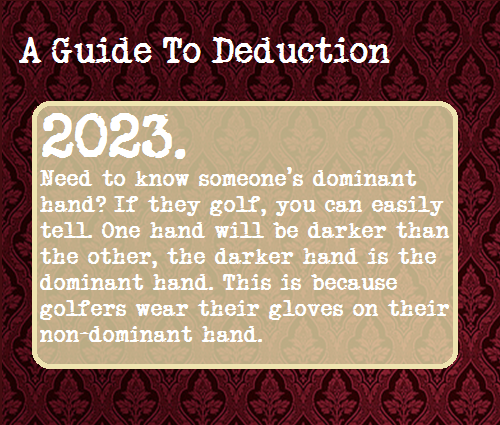 A Guide To Deduction, Suggested by yeswouldyoulikebleachwiththat