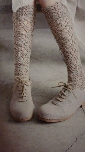 vintage inspired lace stockings (stockings,lace,vintage)