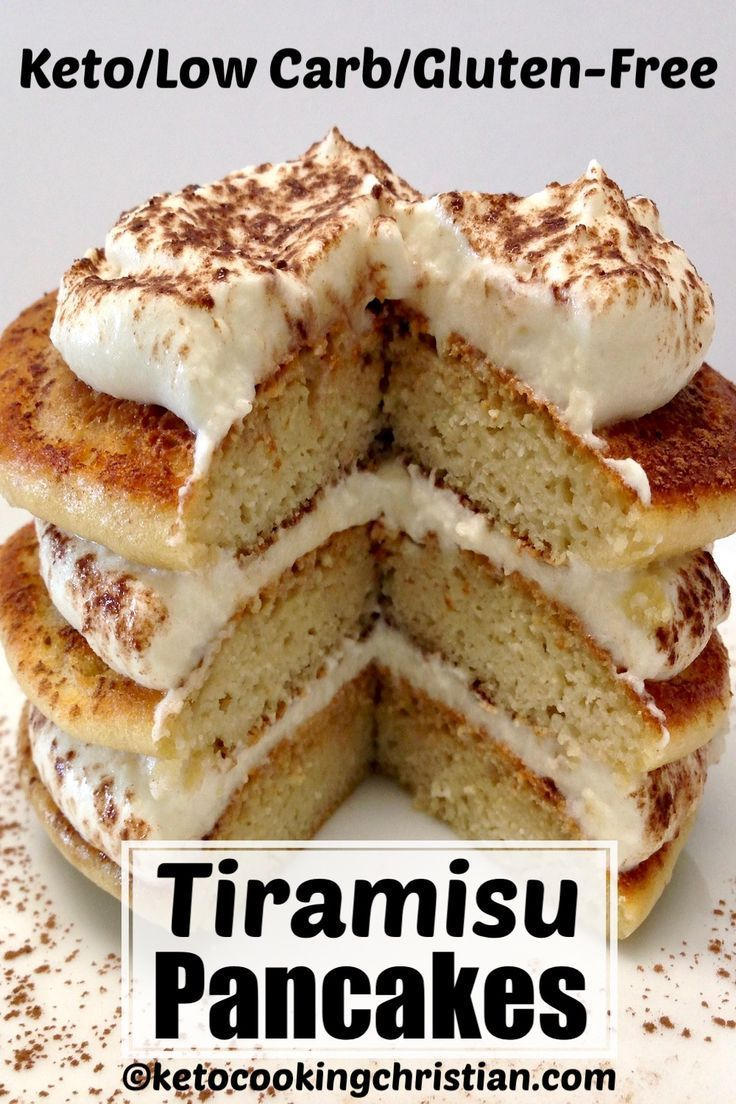 Photo of Low Carb Tiramisu Pancakes