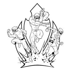 top 25 free printable mighty morphin power rangers coloring pages online - Power Rangers Coloring Pages
