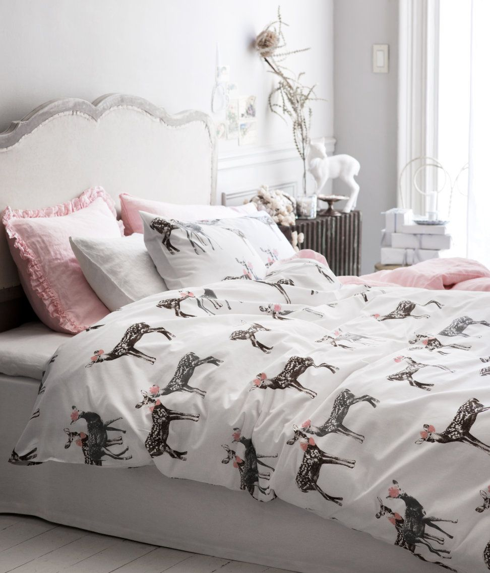 girl deer bedroom...maybe with a less busy comforter ...
