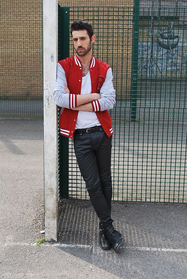 Adrian Cano Baseball Jacket Outfit Mens Outfits Casual Sweatshirt