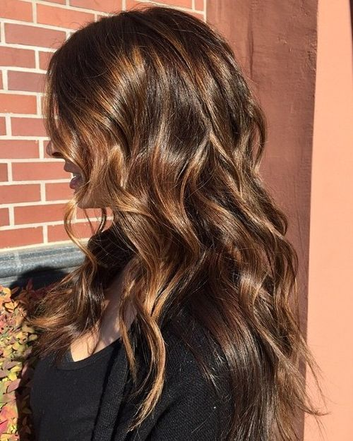 60 Looks with Caramel Highlights on Brown and Dark Brown ... - photo #18