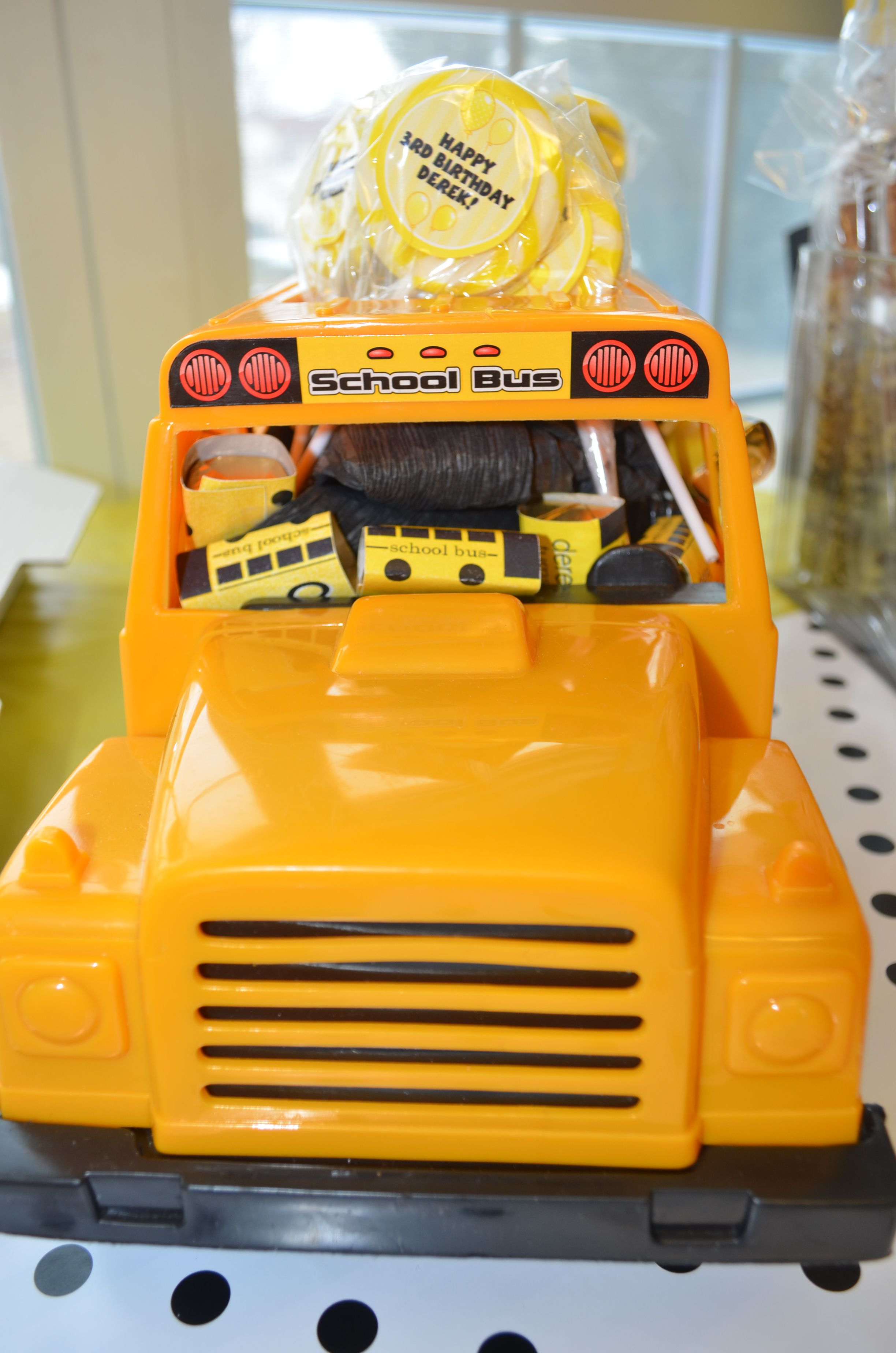 School Bus Toy Filled With Bus Nuggets And Lollipops
