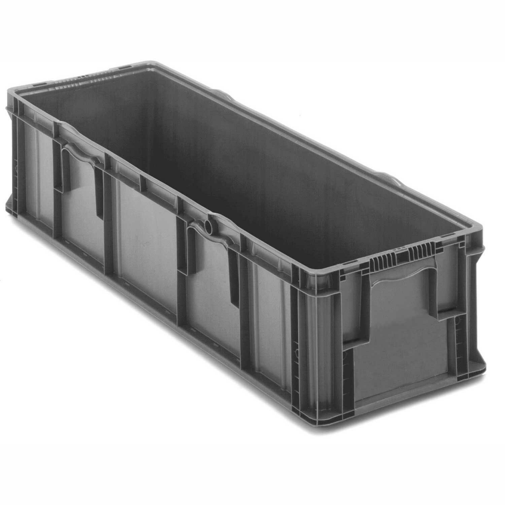 Bins Totes Containers Containers Stacking Orbis Stakpak So4815 11 Plastic Long Stacking Container 48 X 15 X 10 3 4 Gray In 2020 Grey Walls Storage Storage Bins