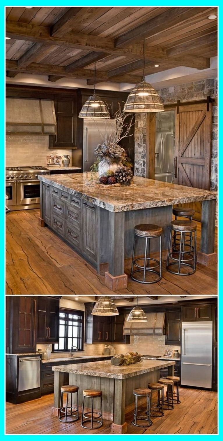 Southwestern Kitchen Decor Give Your Home A Rustic Old West Feel Dyi Home Renovations Rustic House Rustic Kitchen Design Rustic Kitchen Decor