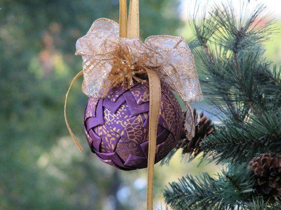 Unique Contemporary Christmas Decorations unique ornament, christmas ornament, purple ornament, star