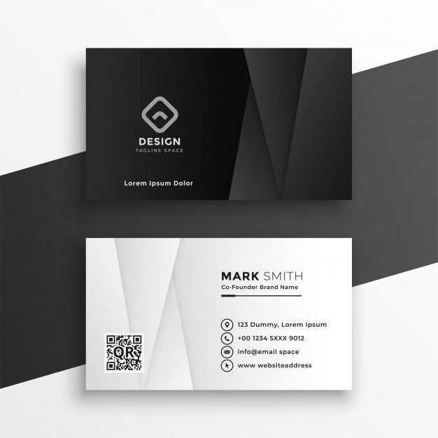 Download Black And White Geometric Business Card Design Template For Free Business Card Design Business Card Design Black Business Card Template Design