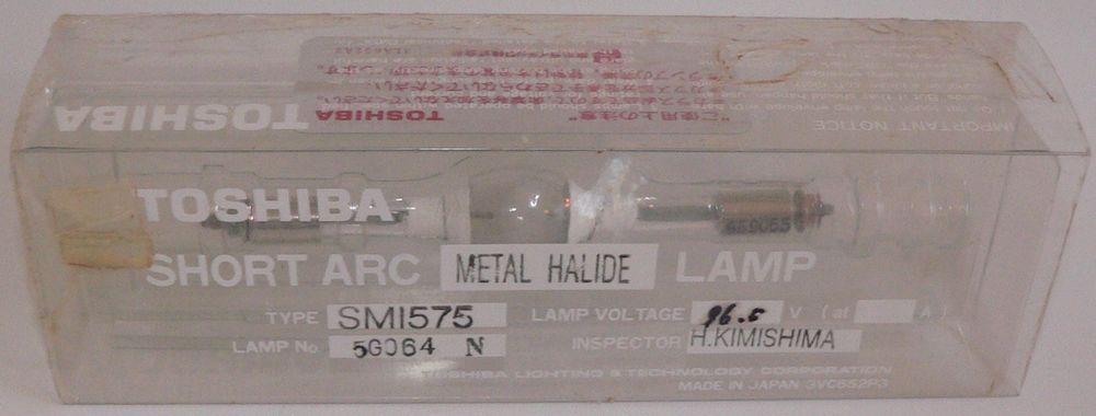 Toshiba Short Arc Metal Halide Lamp Smi575 96 5v 5g064n Replacement Bulb Smi 575 Light Bulb Lamp Ebay Bulb