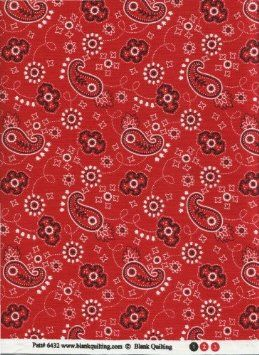 "Amazon.com: Ride Em Cowboy Red Bandana Fabric by Blank Quilting 6432 Round Up II Bandanamania Quilt Fabric 100% Cotton 45"" Wide - HALF YARD: Arts, Crafts & Sewing"