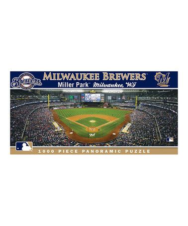 Milwaukee Brewers Panoramic Baseball Stadium Puzzle By Masterpieces Other Teams Available Milwaukee Brewers Baseball Milwaukee