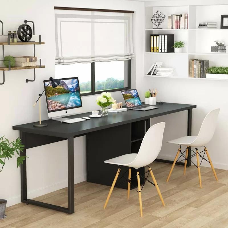 Double Desks You Ll Love In 2019 Wayfair Office Furniture Modern Home Desk Desk