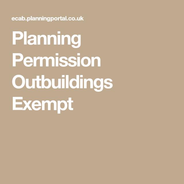 Planning Permission Outbuildings Exempt