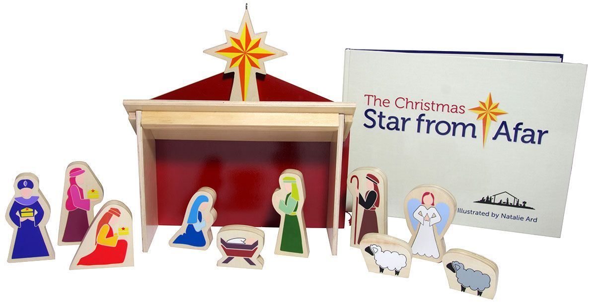 The Christmas Star From Afar Set - Like Elf on the Shelf but simple and Christ-focused. Every morning the kids find the star and move the wise men to it. On Christmas Even the star moves to the nativity set.