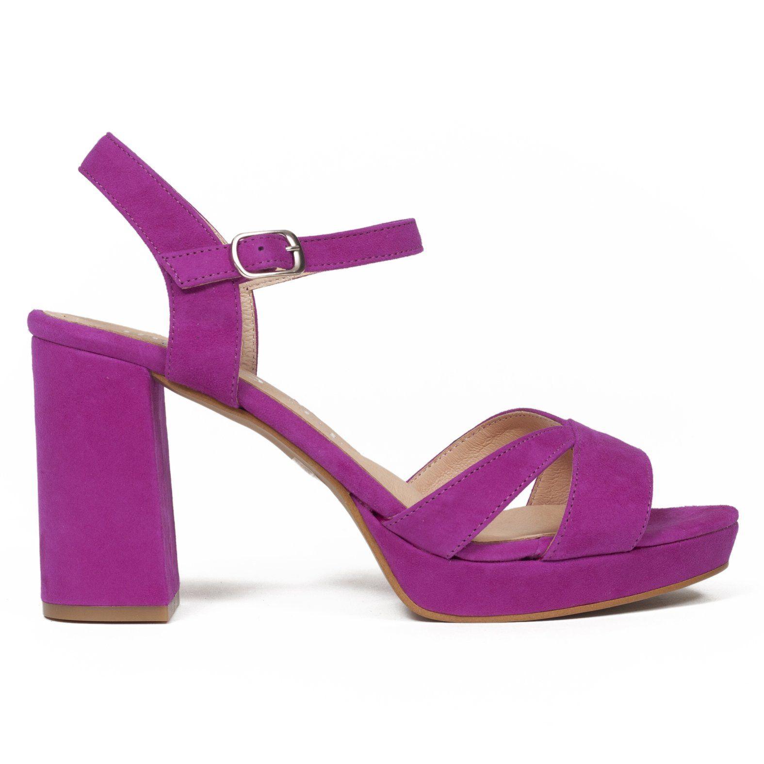 4e55f885 Sandalia plataforma con tiras de piel Morado - miMaO Spain – miMaO  ShopOnline