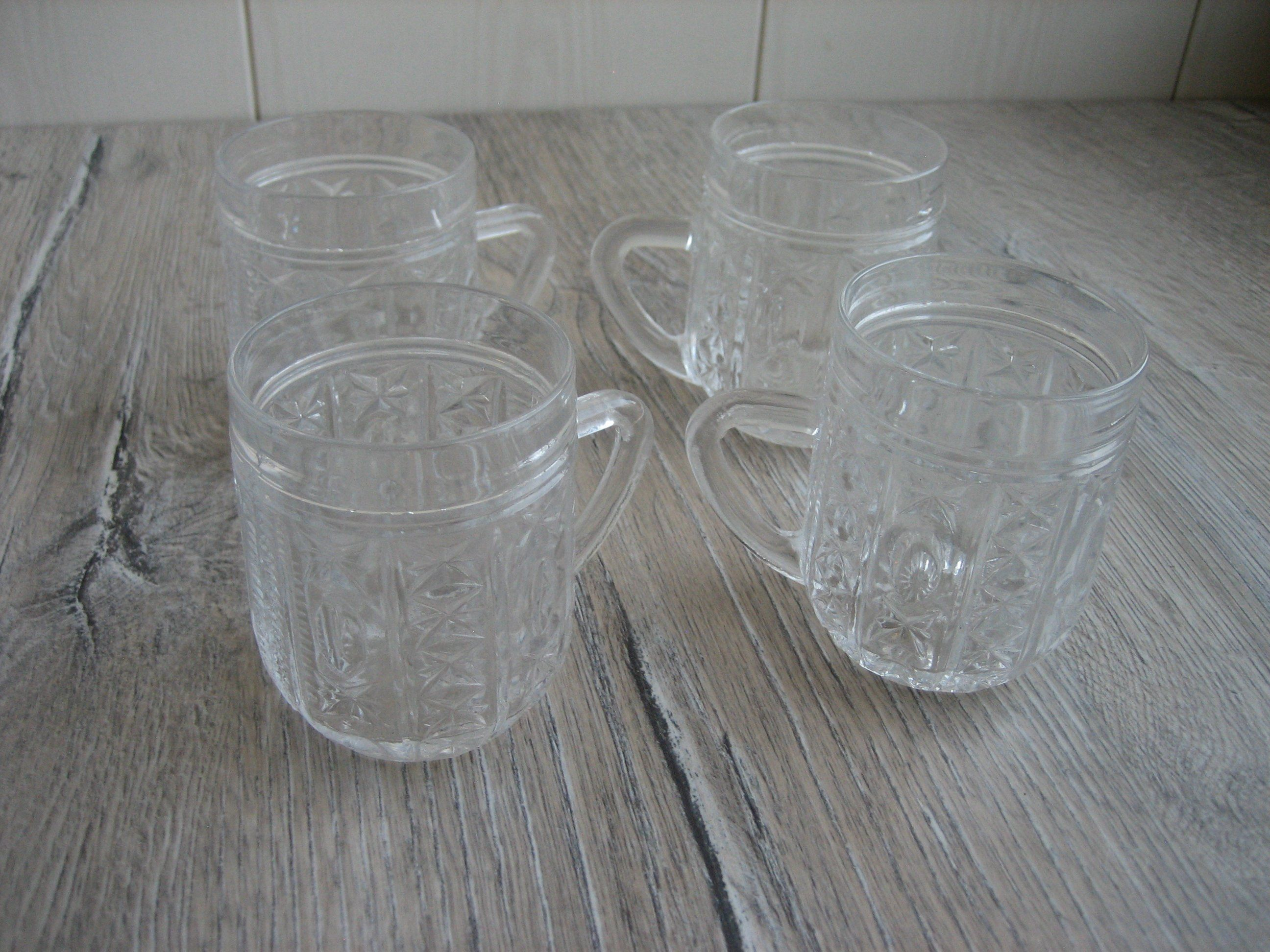 Vintage Soviet Plastic Bottle with Two Cups.