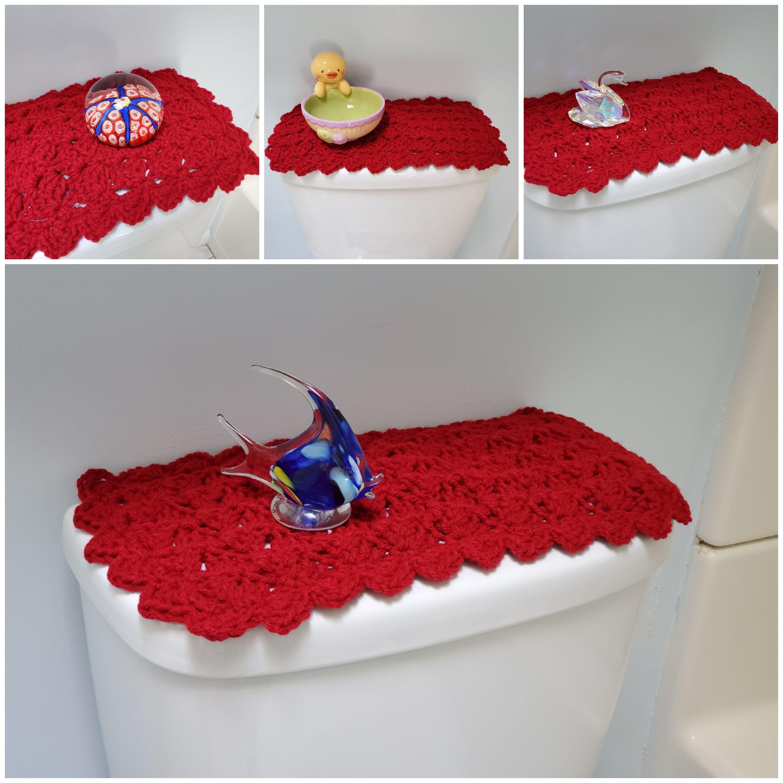 Toilet Tank Topper Crochet Toilet Tank Topper Bathroom Decor Burgundy Ttt1a Toilet Tank Bathroom Decor Decor