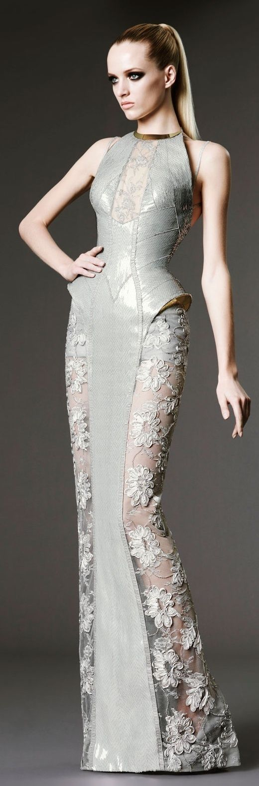 Versace wedding dress  evening wear  couture  embroidery  wedding gownDiscover more at