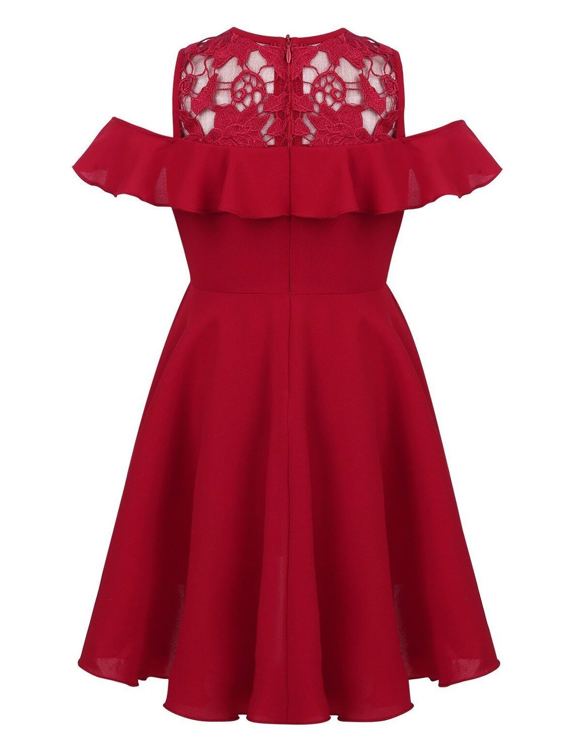 Party dresses for 7 year olds in dark red - Fabulous Bargains