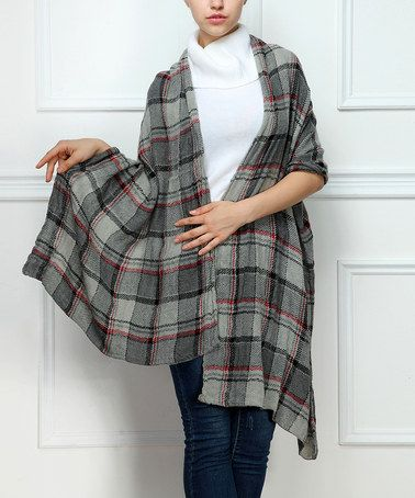 Another great find on #zulily! Gray Plaid Shawl by Reborn Collection #zulilyfinds