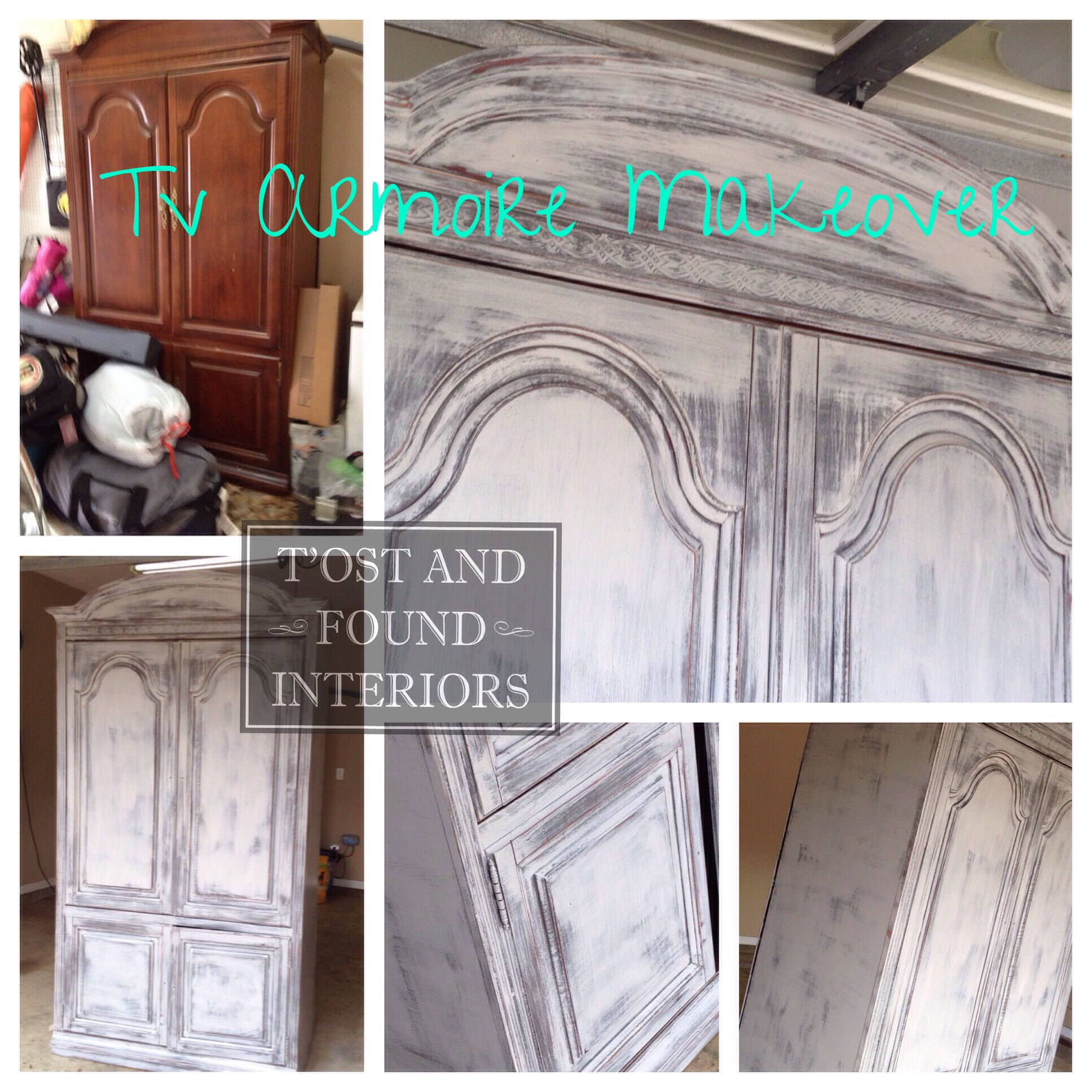 Custom Armoire Makeover By Tu0027ost And Found Interiors. Clinton, Ms. Follow