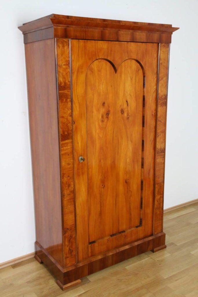 Dielenschrank Kleiderschrank Biedermeier Kirschbaum Schlafzimmer