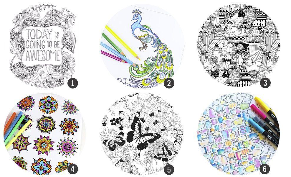 18 láminas para imprimir y colorear para adultos   Cosas Molonas ...