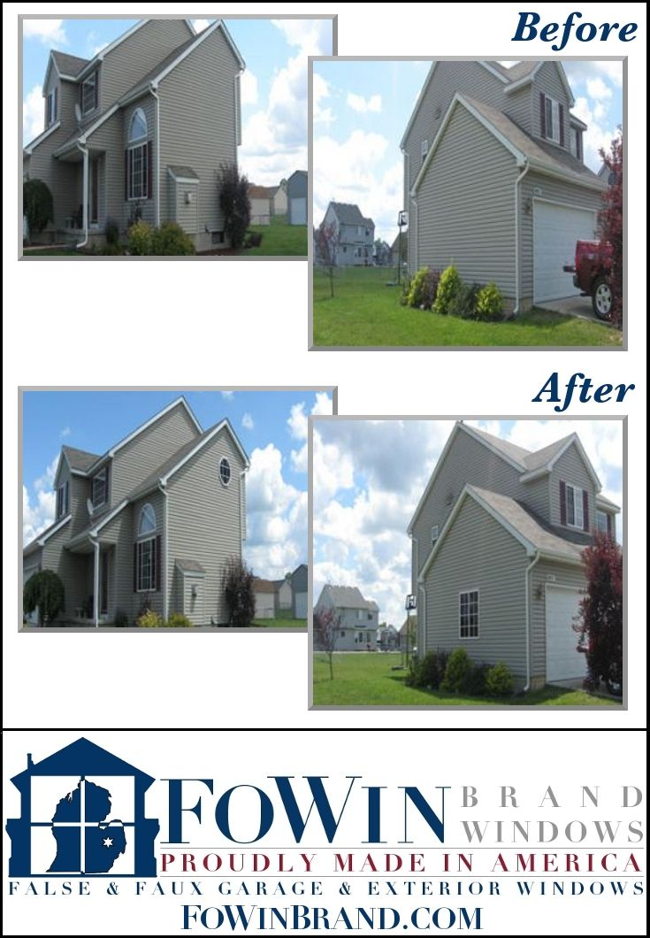 Another Home Makeover From FoWin Brand Windows False Faux Garage Exterior