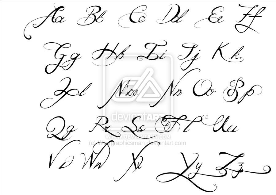 Free Fonts Tattoo Fonts Cursive Cursive Fonts Alphabet Tattoo